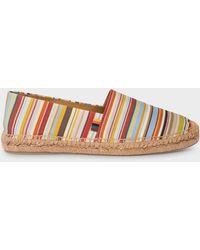 Paul Smith 'signature Stripe' Canvas 'sunny' Espadrilles - Multicolour