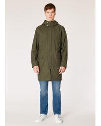 Paul Smith - Dark Green 2-In-1 Cotton-Blend Parka - Lyst