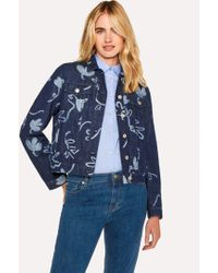 Paul Smith - Indigo 'Acapulco' Print Denim Jacket - Lyst
