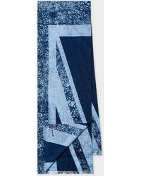Paul Smith Écharpe Bleue 'Union Jack' En Coton