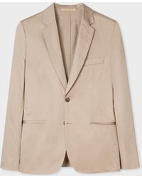 Paul Smith - Tailored-fit Camel Unlined Cotton Blazer - Lyst