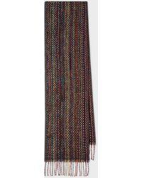 Paul Smith Basket Weave Signature Stripe Cashmere Scarf - Multicolor