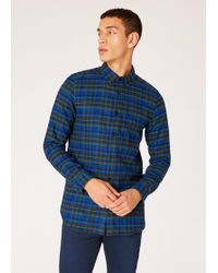 Paul Smith - Tailored-fit Navy And Black Check Cotton Shirt - Lyst