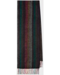 Paul Smith 'artist Stripe' Double-face Cashmere Scarf - Multicolour