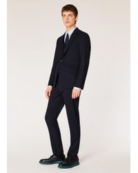 Paul Smith - Le Soho - Costume Homme 'A Suit To Travel In' Bleu Marine En Laine Coupe Ajustée - Lyst