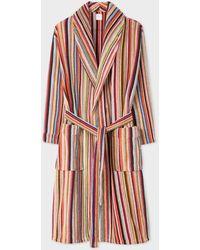 Paul Smith Peignoir 'Signature Stripe' En Coton - Multicolore