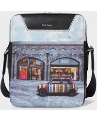Paul Smith 'mini Kings Cross' Print Canvas Flight Bag - Multicolour