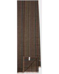 Paul Smith Signature Stripe Mercerised Wool Scarf - Multicolor