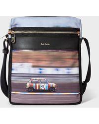 Paul Smith 'racing Mini' Print Canvas Flight Bag - Multicolour