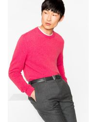 Paul Smith - Pink Cashmere Jumper - Lyst
