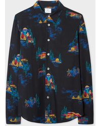 Paul Smith Ps Ufo Flying Saucer Tailored Fit Shirt - Black