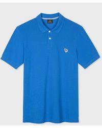 Paul Smith Blue Organic Cotton-piqué Zebra Polo Shirt