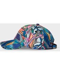 Paul Smith 'artist Studio' Print Baseball Cap - Blue