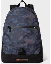 Paul Smith Black 'heat Map Camo' Canvas Backpack