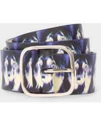 Paul Smith 'homer' Print Leather Belt - Multicolor