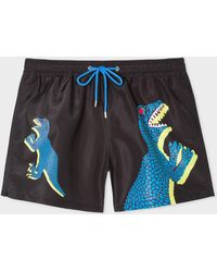 Paul Smith Short De Bain Noir 'Dino'