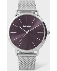 Paul Smith - Unisex Violet And Stainless Steel 'Ma' Watch - Lyst