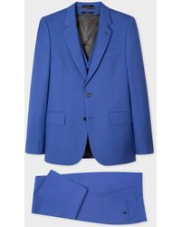 Paul Smith The Soho - Tailored-fit Violet Three-piece 'a Suit To Travel In' - Purple