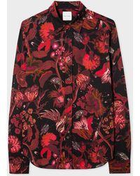 Paul Smith Graphic-print Soho-fit Poplin Shirt - Red