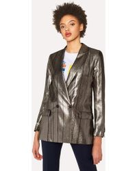 Paul Smith - Metallic Double-Breasted Blazer - Lyst