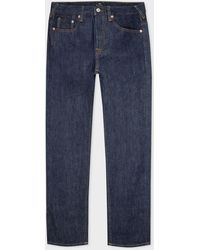 Paul Smith Standard-fit Indigo Rinse 'crosshatch Stretch' Jeans - Blue
