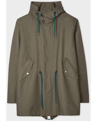 Paul Smith Washed Khaki 2-in-1 Cotton Fishtail Parka - Natural