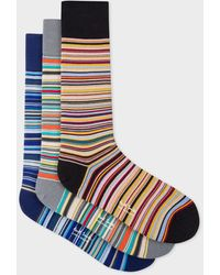 Paul Smith Signature Stripe Socks Three Pack - Multicolour