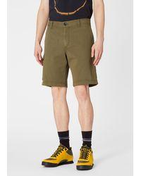 Paul Smith Khaki Cotton-stretch Shorts - Multicolor