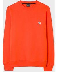 Paul Smith Burnt Orange Organic-cotton Zebra Logo Sweatshirt