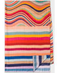 Paul Smith 'rainbow Swirl' Silk-blend Scarf - Multicolour