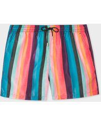 Paul Smith Short De Bain Imprimé 'Artist Stripe' - Multicolore