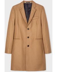 Paul Smith Camel Wool And Cashmere-blend Epsom Coat - Multicolour