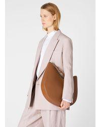 Paul Smith 'half Moon' Tan Leather Hobo Bag - Brown