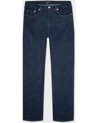 Paul Smith Standard-fit Indigo Rinse 'crosshatch Stretch' Jeans - Blue