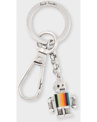 Paul Smith 'artist Stripe' 'robot' Keyring - Metallic
