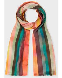 Artist Stripe scarf - Multicolour Paul Smith Cheap Official View For Sale Collections Cheap Online Clearance Big Discount NXYEeGe