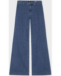 Paul Smith - Women's Light-wash Denim Bell Bottom Jeans - Lyst