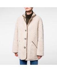 Paul Smith Women's Faux Shearling-sheepskin Reversible Coat - Blue