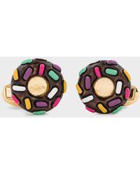 Paul Smith Gold 'donut' Cufflinks - Metallic