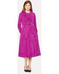 Paul Smith Purple Suede Trench Coat