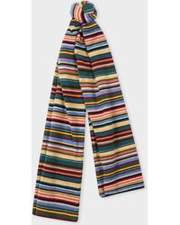 Paul Smith - Signature Stripe Wool And Cashmere-blend Scarf - Lyst