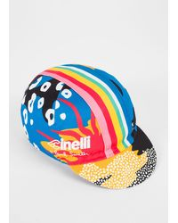 Paul Smith + Cinelli 'rainbow Warrior' Cycling Cap - Blue
