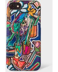 Paul Smith 'artist Studio' Leather Iphone 6/6s/7/8 Case - Black