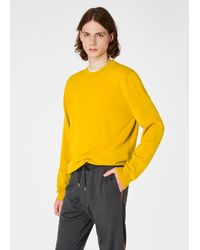 Paul Smith Mustard Cashmere Sweater - Yellow