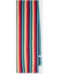 Paul Smith Écharpe 'Artist Stripe' En Laine - Multicolore