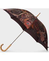 Paul Smith - Parapluie Droit Imprimé 'Monkey' Et Pommeau En Bois - Lyst