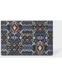 Paul Smith - Black 'Mini Kaleidoscope' Print Leather Credit Card Holder - Lyst