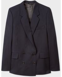 Paul Smith - A Suit To Travel In - Dark Navy Wool Double-breasted Blazer - Lyst