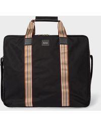 Paul Smith Black Signature Stripe Suit Carrier