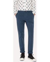 Paul Smith - Slim-Fit Navy Stretch Cotton-Twill Chinos - Lyst